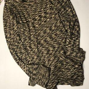 Brown and black long sleeved top / tee shirt